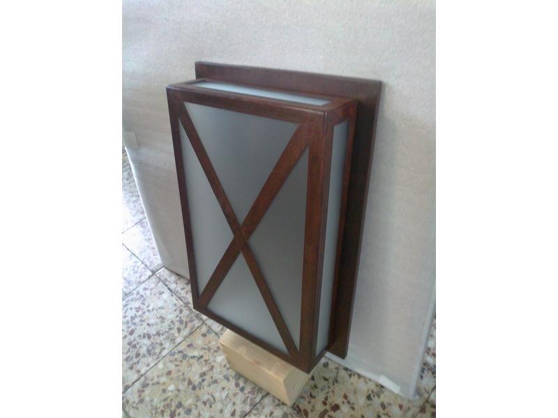 Apliques de pared en acero corten