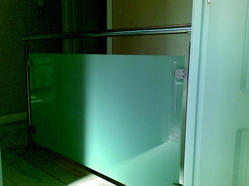Barandilla de cristal laminado