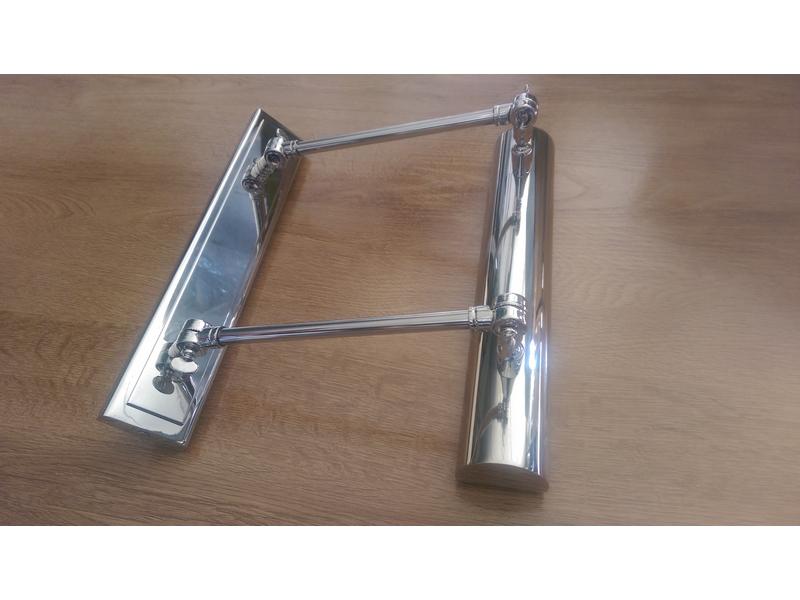 Lámpara para cuadros en acero brillo