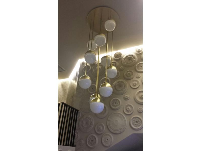 Lámparas de globos y latón