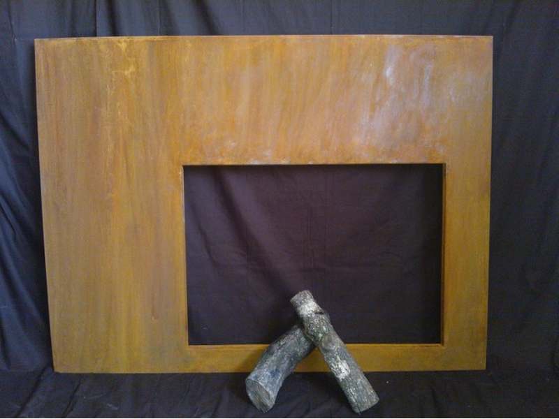 Marco de chimenea en acero corten