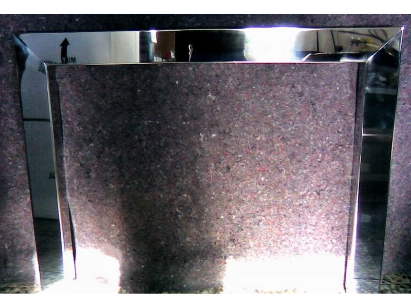 Embocadura chimenea de acero en brillo
