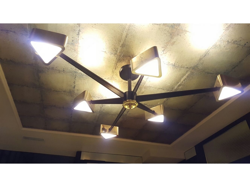 Lámparas de diseño sobre plano